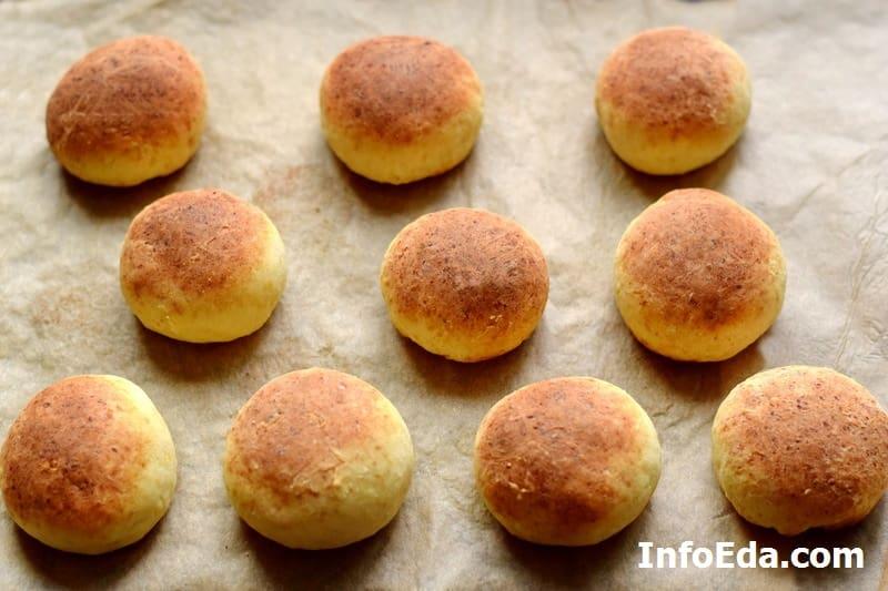 Готовые булочки с духовки
