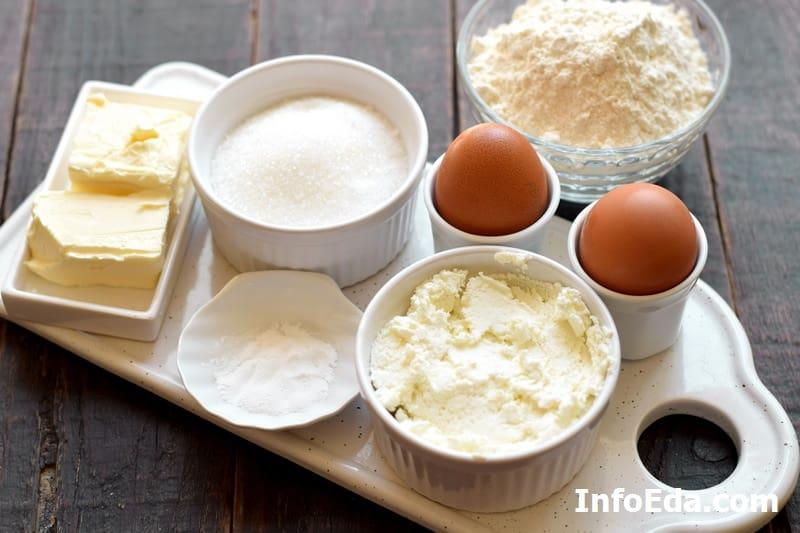 Ингредиенты для творожных кексов