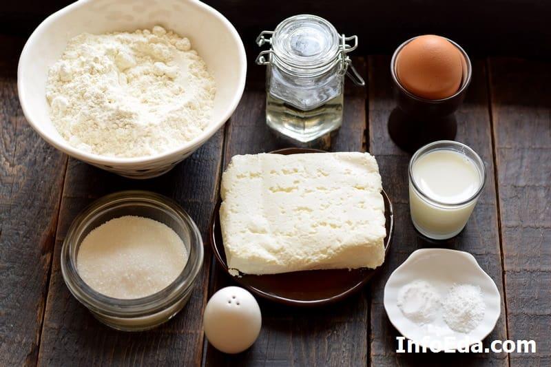 Ингредиенты для теста для творожных булочек