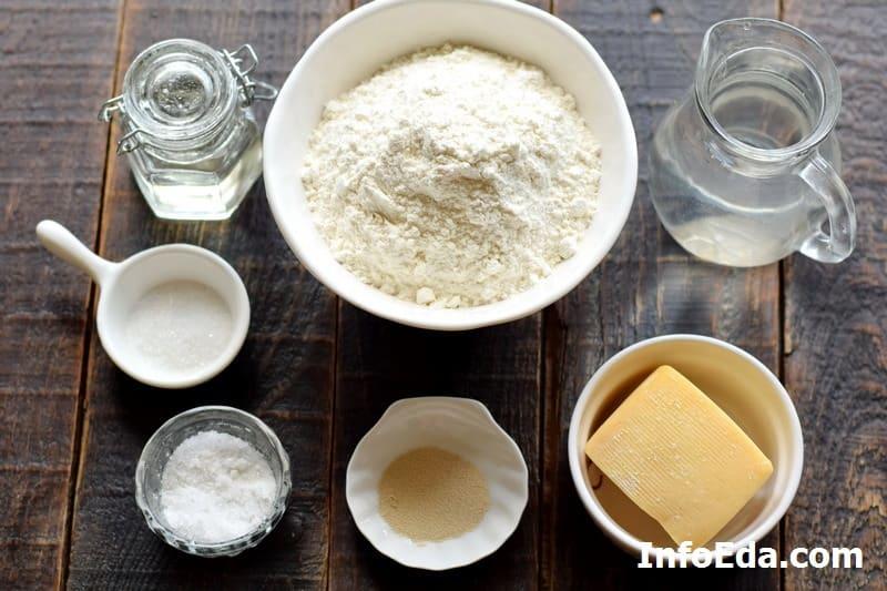 Ингредиенты для гриссини с сыром