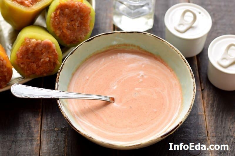 Сметанно-томатный соус