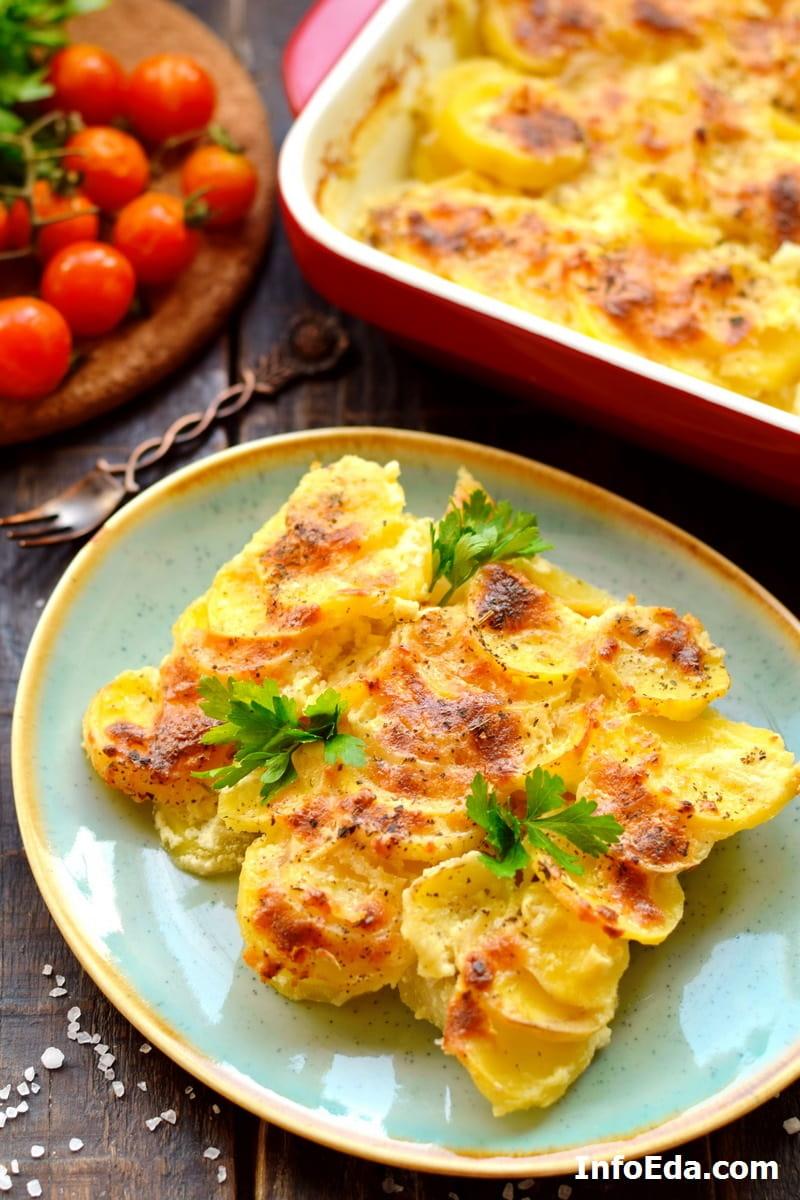 Гратен из картофеля с сыром