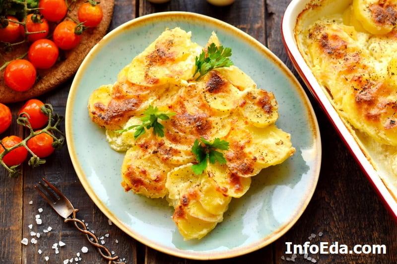 Картофельный гратен Дофине с сыром