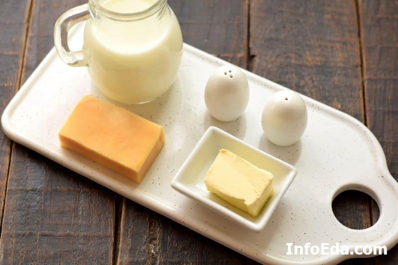 Ингредиенты для соуса Альфредо
