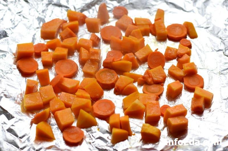 Запеченные тыква и морковь