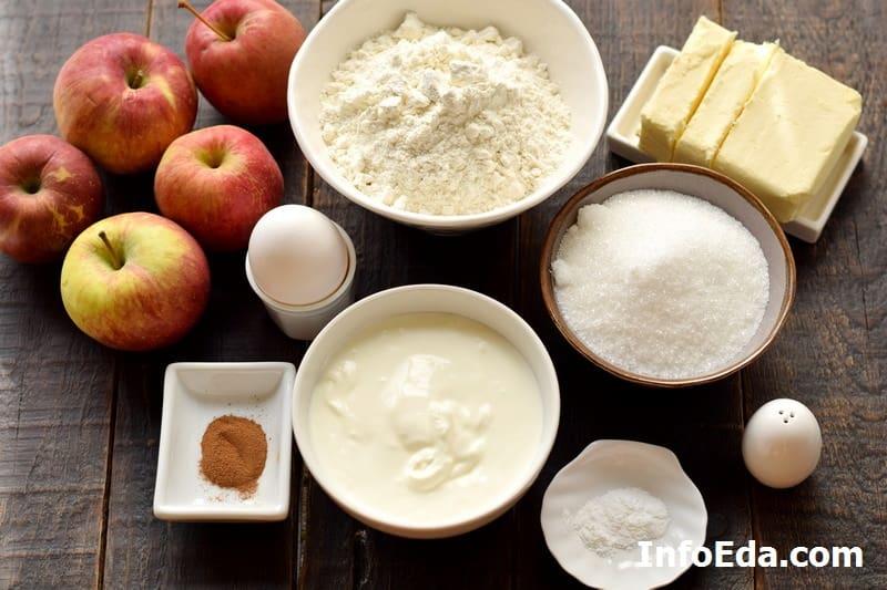 Ингредиенты для цветаевского яблочного пирога