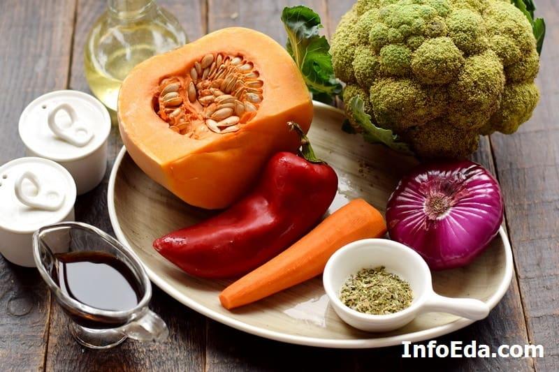 Ингредиенты для запекания овощей
