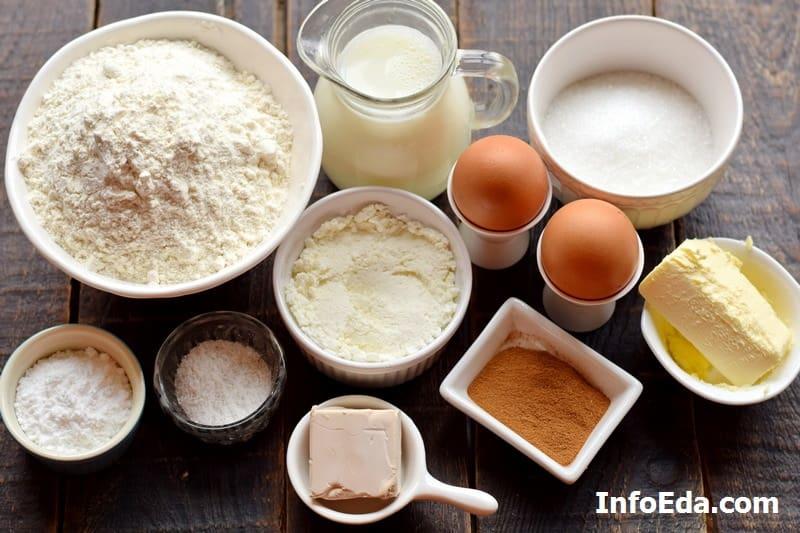 Ингредиенты для Синнабон с корицей