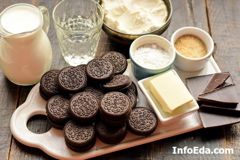 Ингредиенты для чизкейка Орео