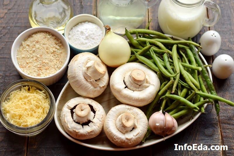 Ингредиенты для запеканки из стручковой фасоли