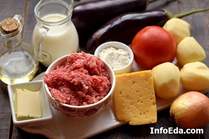 Ингредиенты для мусаки по-гречески